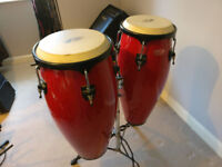 Pair of Stagg Congas (Red)