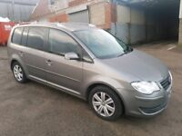 2008 VOLKSWAGEN TOURAN 1.9 TDI 105 BHP 5 DOOR HATCHBACK GREY 5 SEATER