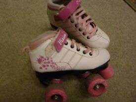 SFR Vision skates in pink and white size 12J