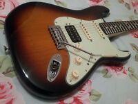 Fender Stratocaster Deluxe Lonestar Electric Guitar HSS. Gibson Martin Squier Taylor Texas Specials