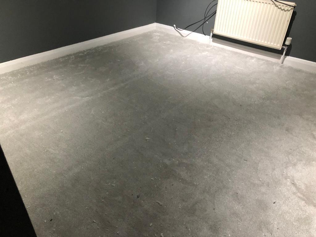 2x Brand New Thick Grey Carpet Off Cuts
