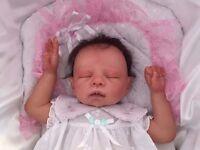 Reborn Baby Girl from a Maribel Villanova kit