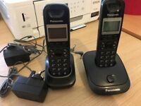 PANASONIC CORDLESS DIGITAL PHONE TWIN SET - KX-TG2511E