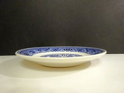 BLUE WILLOW 2 CUPPED SAUCERS ONLY ROYAL CHINA-R - $9.99