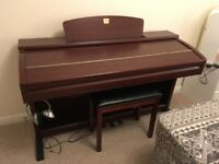 Yamaha Clarinova CVP-303M Digital Piano, Immaculate condition, includes stool and approx £200 music