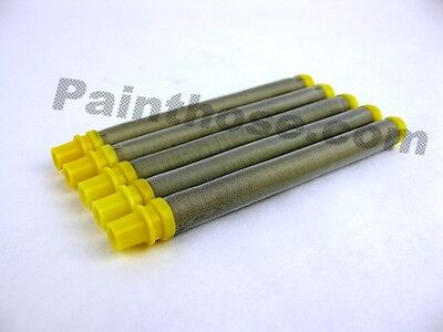 Airless Spray Gun Filter 100 Mesh Yellow Push-on For Titan S3 Lx-50 Gun 5 Pack