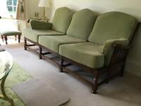 Ercol 3 Seater York Minster Settee and 2 matching Armchairs