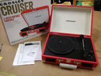 Boxed Crosley Cruiser portable record player RRP £80 US £45