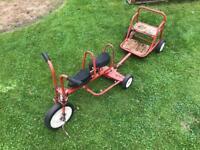 Kids trike and trailer (collectors item)