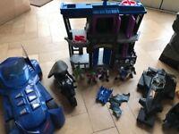 Batman Batcave, plus Gotham City Jail and figures by Imaginext