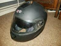 Q Tech motorbike crash helmet