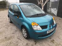 54 plate 2004 Renault modus 1.4 petrol LOW MILES px part ex swap - With Air Con - MOT Til jan 2019
