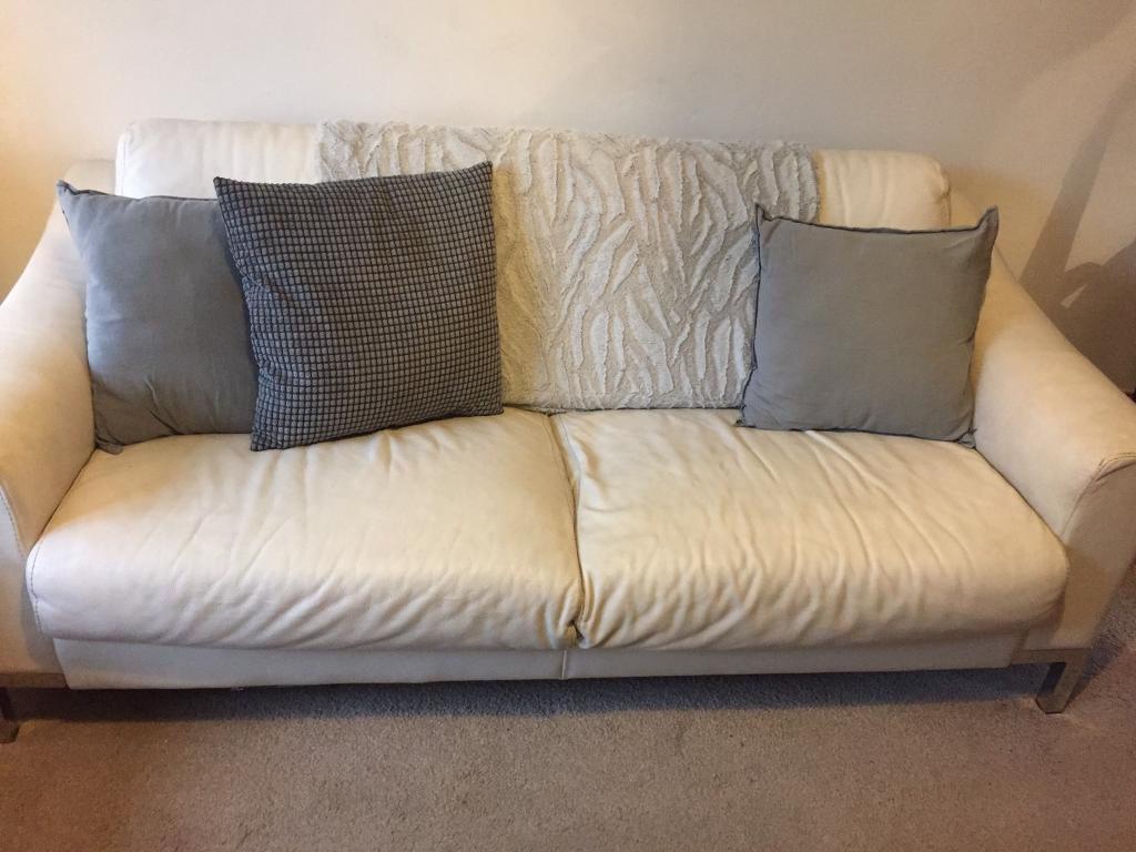 Wondrous Dfs Off White 3 And 2 Seater Leather Sofas 100 Ono In Clifton Nottinghamshire Gumtree Pdpeps Interior Chair Design Pdpepsorg