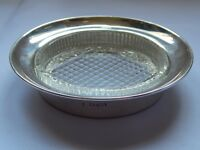 Silver Butter Dish With Cut Glass Liner, Hallmarked Chester 1912