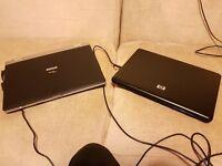 2 laptops hp and fujitsu linux noOS