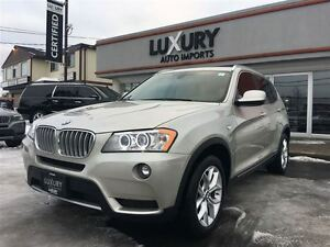 2014 BMW X3 XDRIVE-2.8I- PREMIUM PKG-PANOROOF-REAR CAMERA-ONLY