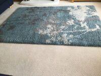 Duck egg blue large rug