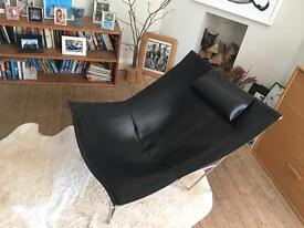 Habitat leather sling chair