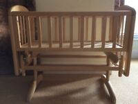 John Lewis Glider Crib. Bought June 2016 but has never been used so in perfect condition.