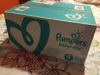 Pampers Baby Dry Size 4 Nappies - Box of 174