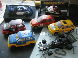 7 scalextric cars