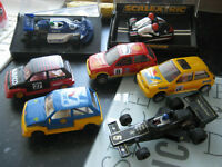 7 scalextric cars