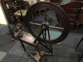 Superb Working Antique Traditional Solid Oak Treadle Spinning Wheel
