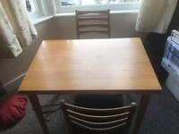Extendable table (plus two chairs)