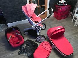 Quinny moodd travel system in pink