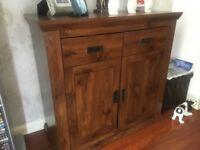 Rustic wooden side board