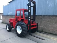 Manitou rough terrain forklift. 4x4, full cab, new tyres