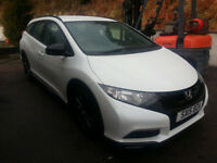 Honda Civic Tourer Black Edition 1.6 Diesel 60MPG+, 3 Free Services to go,