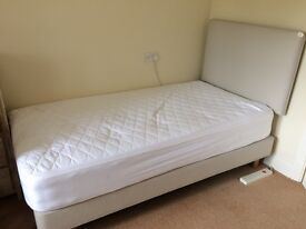 WIDE SINGLE BED (as-good-as-new ie used only 6 months)