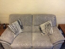 2 seat sofa and powered recliner