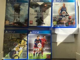 FIFA 17, FIFA 16, NBA LIVE 16, KILLZONE SHADOW FALL, STAR WARS BATTLEFRONT