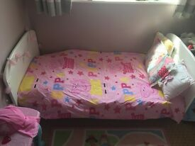 White cot bed & mothercare mattress