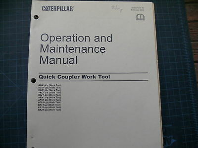 Cat Caterpillar Quick Coupler Operation Operator Manual Excavator Trackhoe Book