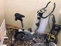 Crane Sports silver and black Exercise Bike