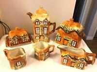 Cottage ware table set of ornaments