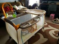 Travel Cot with changing station
