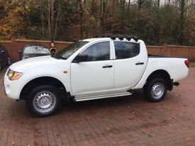 2010 10 Mitsubishi l200 pickup truck double cab crewcab kingcab no vat may px white only 92000 miles