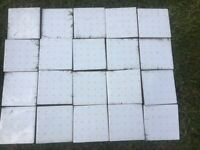 CERAMIC WHITE AND YELLOW TILES. £20. GOOD CONDITION.