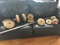 GREAT CONDITION York Barbell Weights