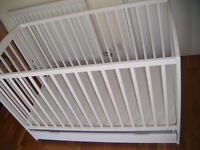 Solid White Cot with Under Draw for Storage