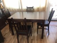 Homebase Extensible Dining Table set with 4 chairs