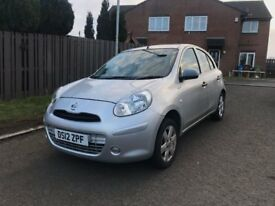 2012 NISSAN MICRA VISIA SILVER IDEAL FIRST CAR LONG MOT+CHEAP INSURANCE+BARGAIN+PX WELCOME ONO