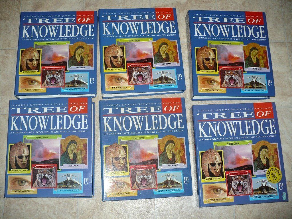 TREE OF KNOWLEDGE ENCYCLOPEDIAS x 6