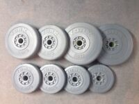 York Vinyl Plate Set(2 x 5kg, 2 x 2.5kg, 4 x 1.25kg)for use with York barbell/dumbbell(not included)
