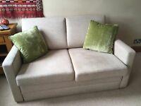 John Lewis beige sofa bed