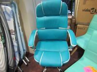 blue gaming office chair